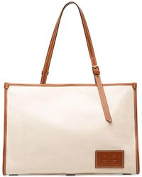 Bally - Calie Leather Trim Canvas Tote - Lyst