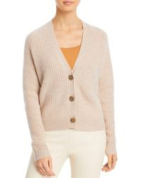C By Bloomingdale's Cropped Cashmere Cardigan - Natural