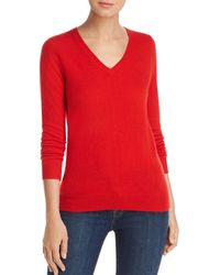 C By Bloomingdale's - V - Neck Cashmere Sweater - Lyst