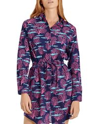 Vilebrequin Florence Coral & Fishes Swim Cover - Up Dress - Purple