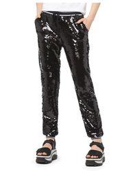 MICHAEL Michael Kors Sequined Sweatpants - Black