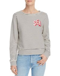 Mother The Boat-neck Matchbox Striped Sweatshirt - Multicolour