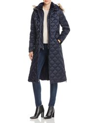 Laundry by Shelli Segal Diamond - Quilted Maxi Puffer Coat - Blue