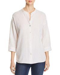 Eileen Fisher - Organic Cotton Striped Shirt - Lyst