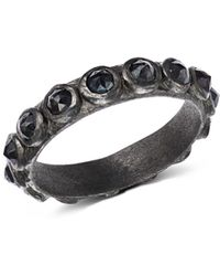Armenta Blackened Sterling Silver New World Rose - Cut Black Spinel Ring
