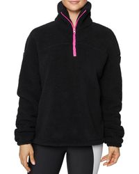 Betsey Johnson Embroidered Funnel Neck Pullover - Black