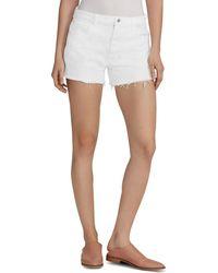 Ella Moss Vintage High - Rise Denim Shorts In White