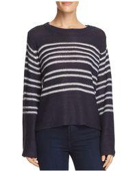 Aqua - Bell Sleeve Striped Sweater - Lyst