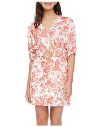 Lucy Paris Floral Belted Sheath Dress - Multicolour
