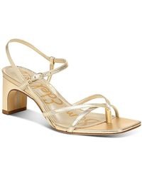 Sam Edelman Women's Himena Block - Heel Strappy Sandals - Metallic