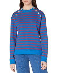 10 Crosby Derek Lam Lucie Sailor Button Sweatshirt - Blue