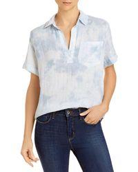 Rails Savannah Tie Dye Collared Shirt - Blue