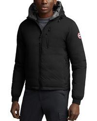 Canada Goose Lodge Packable Hooded Down Jacket - Black