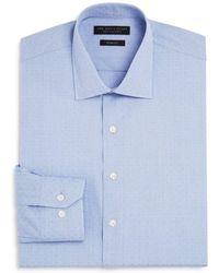 Bloomingdale's - Textured Dot Slim Fit Dress Shirt - Lyst