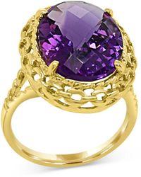 Bloomingdale's Amethyst Ring In 14k Yellow Gold - Metallic