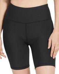 Aqua Athletic High Rise Bike Shorts - Black