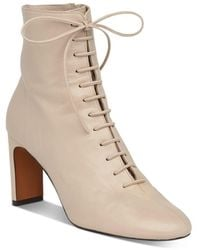 Whistles Women's Dahlia Lace - Up Boots - Natural