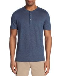 Theory - Essential Short Sleeve Henley - Lyst