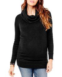 Ingrid & Isabel Ingrid & Isabel Cowl Neck Maternity Sweater - Black
