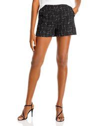 Aqua Tweed Shorts - Black