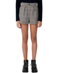 Maje Ioldita Chequered Shorts - Multicolour