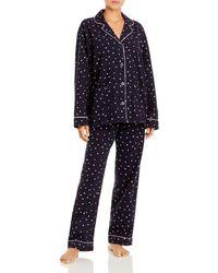 Pj Salvage Printed Flannel Pajama Set - Blue