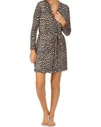 Kate Spade Leopard Wrap Robe - Multicolour
