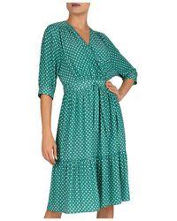 Gerard Darel Sasha Polka - Dot Wrap Dress - Green