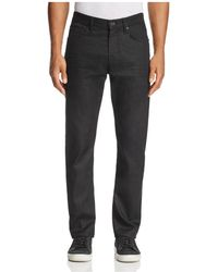 7 For All Mankind - Airweft Straight Fit Jeans In Black - Lyst