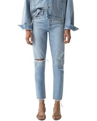 Agolde Jamie High Rise Tapered Jeans In Shakedown - Blue