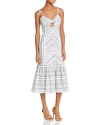 Red Carter Madelyn Midi Dress - Multicolor