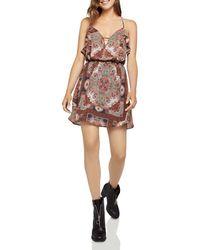 BCBGeneration - Ruffled Paisley Print Dress - Lyst