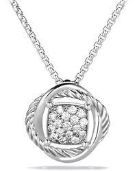 David Yurman Diamond Sterling Silver Necklace - Metallic