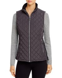Calvin Klein Quilted Puffer Vest - Gray