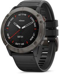 Garmin Fenix 6x Carbon Gray Dlc Black Rubber Strap Smartwatch
