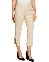 Vince Camuto Double - Weave Cropped Trousers - Natural