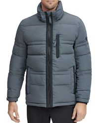 Marc New York Huxley Crinkle Down Jacket With Removable Hood - Grey