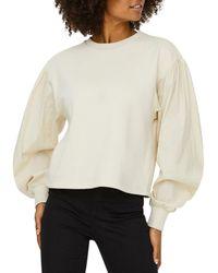 Vero Moda Lili Puff Sleeve Sweatshirt - Multicolour