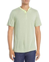 Theory Gaskell Anemone Slim Fit Henley Tee - Green