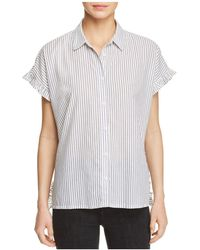 Beach Lunch Lounge - Pancho Striped Ruffle Sleeve Shirt - Lyst