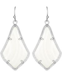 Kendra Scott Alex Earrings - White
