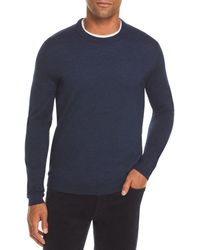 Bloomingdale's The Store At Bloomingdale's Merino Crewneck Sweater - Blue