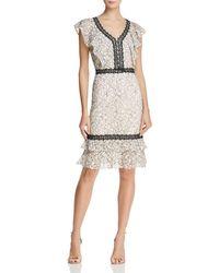 Nanette Nanette Lepore - Flounced Lace Dress - Lyst