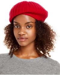 C By Bloomingdale's Rib - Knit Cashmere Beret - Brown
