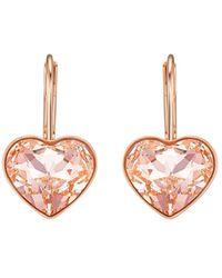 Swarovski Bella Crystal Heart Earrings - Multicolour