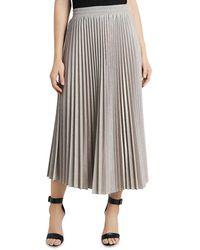 Vince Camuto Metallic Pleated Skirt - Multicolor