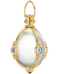 Temple St. Clair 18k Yellow Gold Multi - Gemstone Amulet Pendant - Metallic