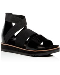 Eileen Fisher Women's Strappy Platform Sandals - Black