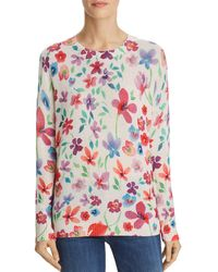C By Bloomingdale's - Floral Print Cashmere Sweater - Lyst