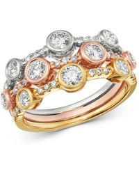 Bloomingdale's - Diamond Bezel - Set Band In Tri - Color 14k Gold - Lyst
